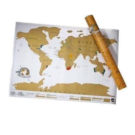 Scratch World Map, Travel Premium - Dați șansa acestei hărți zgârietoare și vă inspiră să explorați lumea!