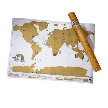 Scratch World Map, Travel Premium