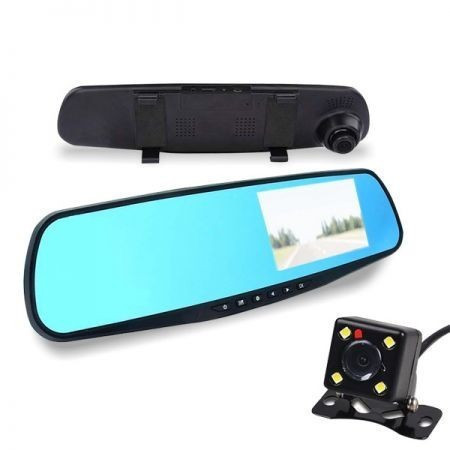 Cameră+oglindă retrovizoare Alphaone cu vedere posterioară
