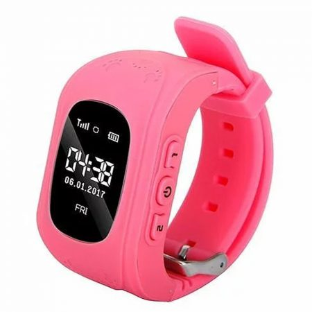 Ceas inteligent Q50 pentru copii- roz