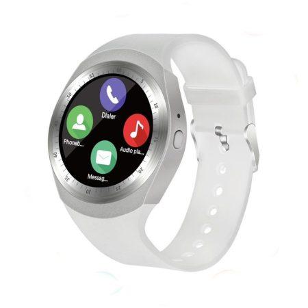 AlphaOne Y1 Smart ceas alb - ecran tactil, notificări, apeluri, pedometru