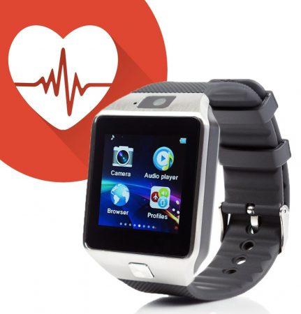 Alphaone m8 premium smartwatch black silver (monitor de frecvență cardiacă)