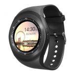 AlphaOne Y1 Smart ceas negru - ecran tactil, notificări, apeluri, pedometru
