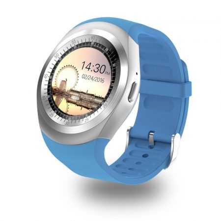 AlphaOne Y1 Smart ceas albastru - ecran tactil, notificări, apeluri, pedometru