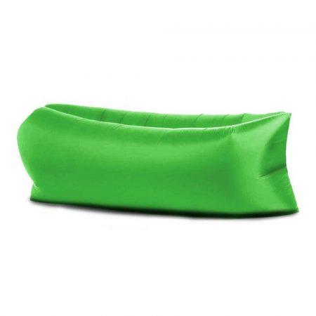 Lazy Bag - Saltea gonflabilă verde pentru confort, oricând și oriunde.