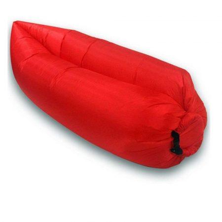 Lazy Bag - Saltea gonflabilă rosu pentru confort, oricând și oriunde.