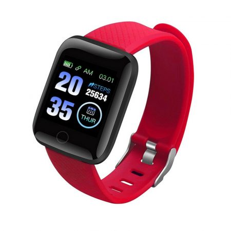 Brățară inteligentă roșie ID116 Plus Transport gratuit! -Aplicatie telefonica in engleza , contor de activitate, aparat foto