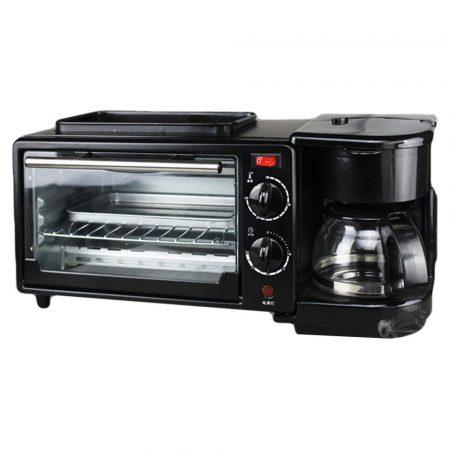 Breakfast station -masina multifunctionala pentru prepararea micului dejun (grătar, cafetiera,prajitor toast,cuptor)