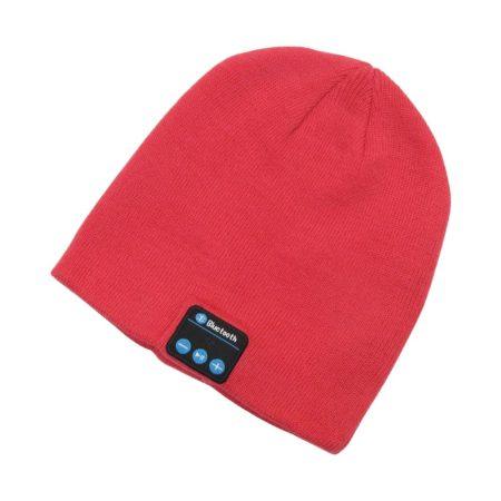 Capac bluetooth roșu - Ascultă muzică cu ușurință iarna.