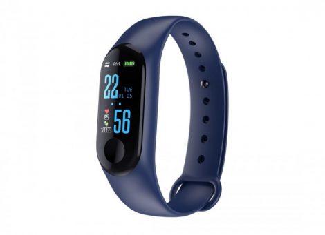 Brățară inteligentă M3 albastru - Contorizarea caloriilor? Măsoară-ți activitatea cu ușurință!