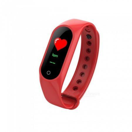 Brățară inteligentă M3 rosu - Contorizarea caloriilor? Măsoară-ți activitatea cu ușurință!