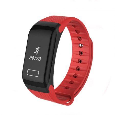 Brățară inteligentă F1 roșu - caracteristici- fitness, conectare anti-furt, Android și ios.