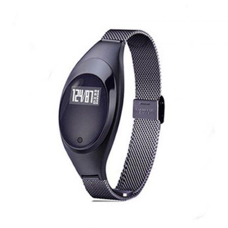 Ceas inteligent christina negru (Z18)Christina Silver Smartwatch (Z18) - Un ceas cu adevărat șic, cu o curea subțire de metal pentru a vă menține feminină în timpul exercițiilor fizice.