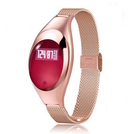 Ceas inteligent christina auriu(Z18)Christina Silver Smartwatch (Z18) - Un ceas cu adevărat șic, cu o curea subțire de metal pentru a vă menține feminină în timpul exercițiilor fizice.