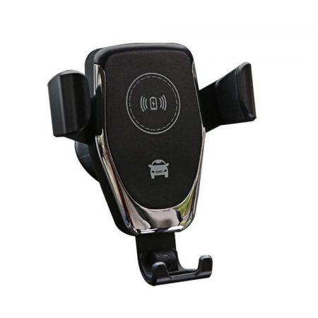 Suport de încărcare QI negru-Încărcați și țineți într-un loc cu ușurință, încărcare wireless.