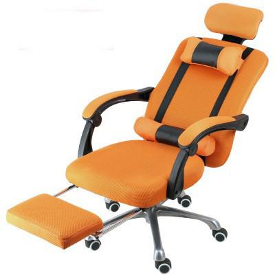 Scaun prezidențial cu suport pentru picioare- portocaliu