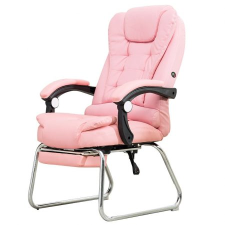 Scaun de masaj cu suport pentru picioare, roz - Ești obosit după serviciu și ai nevoie de relaxare ? Livrare gratuită!
