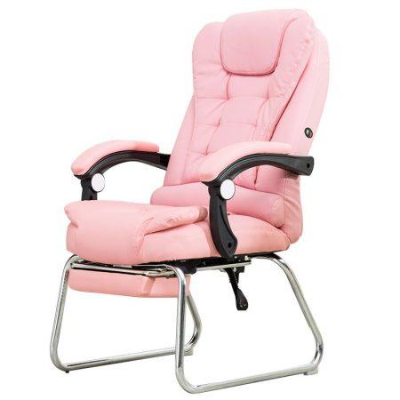 Scaun de masaj cu suport pentru picioare-roz