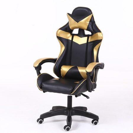Scaunul RACING PRO X Gamer, auriu-negru Transport gratuit-esti mult in fata netului uita  durerile de spate
