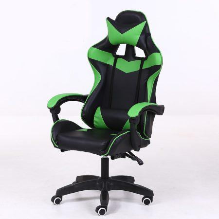 Scaunul RACING PRO X Gamer, verde-negu -Confort și confort, design ergonomic!