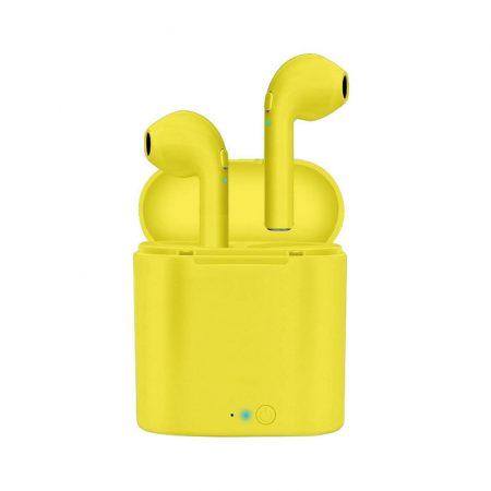 Căști I7S galbene - aspect elegant, sunet excelent?