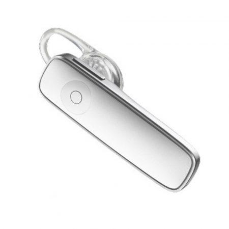 Căști Bluetooth HQ Alb - Dispozitiv puternic și minuscul pentru conversații sigure în timpul conducerii.