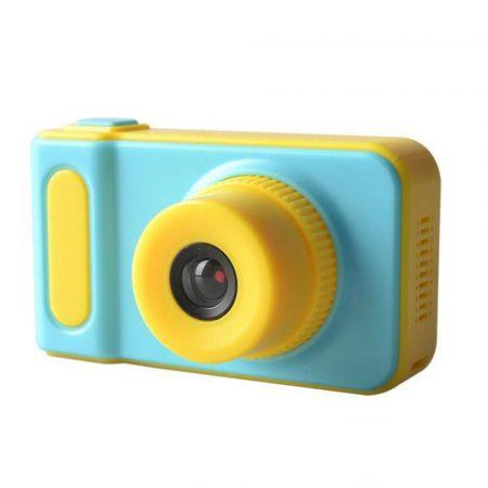Cameră foto digitala pentru copii, Camera digitala fot pentru copii, albastra - Copilul tău îți fură întotdeauna telefonul și face multe poze? Cumpără- acum!
