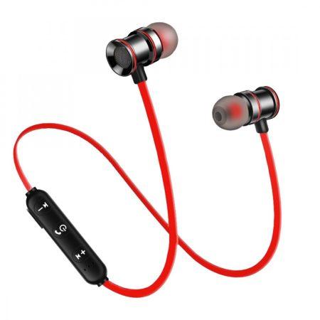 Cască sport X10 Roșu - design magnetic, astfel încât să nu-l pierdeți în timpul exercițiilor!