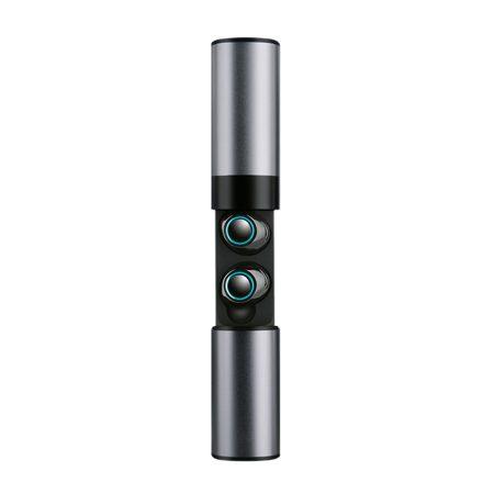 Căști S2 Tws Gri - Căști wireless cu carcasă și microfon.