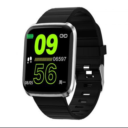 ID116 pro smart watch negru-linia PRO este cea mai bună alegere pentru sportivi.