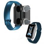 T89 Bracelet inteligent-albastru-obosit din multe dispozitive tehnologice ?? Aveți totul într-un singur loc, căști + brățară!