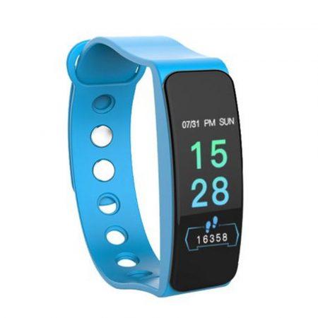 Brățară albastră B1 - exterior masiv, dar elegant, monitorizare a sănătății, alerte, mod sport.