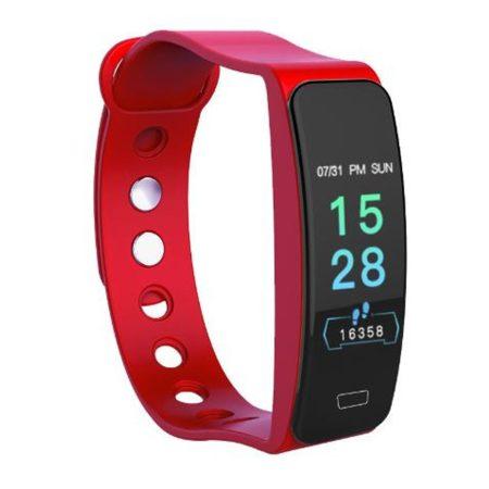 Brățară rosu B1 - exterior masiv, dar elegant, monitorizare a sănătății, alerte, mod sport.