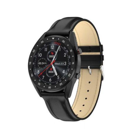 Ceas L7 negru din piele neagră,exclusiv ,inteligent - Intalniri , muncă, sport .. folosiți-l în orice domeniu al vieții.
