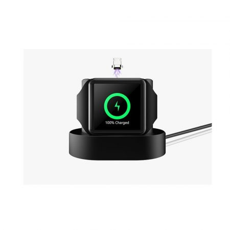Stație încărcare Iphone și Iwatch - culoare neagră