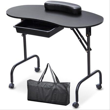 Masă de manichiură portabilă - culoare neagră