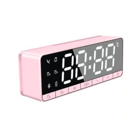 Ceas cu alarmă digitală Bluetooth - roz