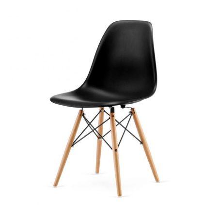 4 buc scaune moderne de bucătărie, sufragerie sau pentru exterior- negru