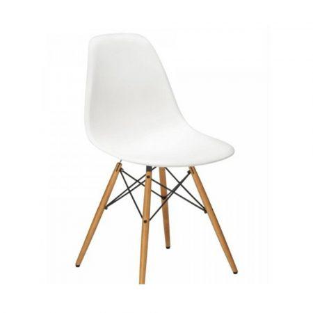 4 scaune moderne pentru bucătărie, sufragerie sau exterior - alb