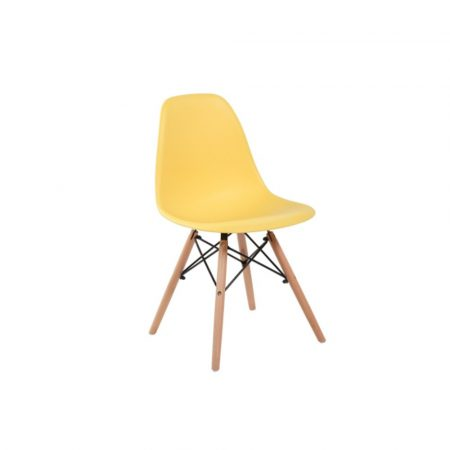 4 buc scaune moderne de bucătărie, sufragerie sau pentru exterior- galben