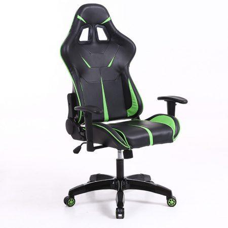 Sintact Gamer scaun negru verde fara suport pentru picior -- A Sosit! Ultimul design, suprafață chiar mai confortabilă!