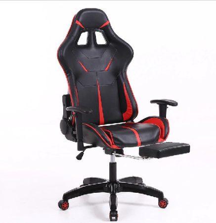 Sintact Gamer scaun Rosu/Negru cu suport picior -- A Sosit! Ultimul design, suprafață chiar mai confortabilă!
