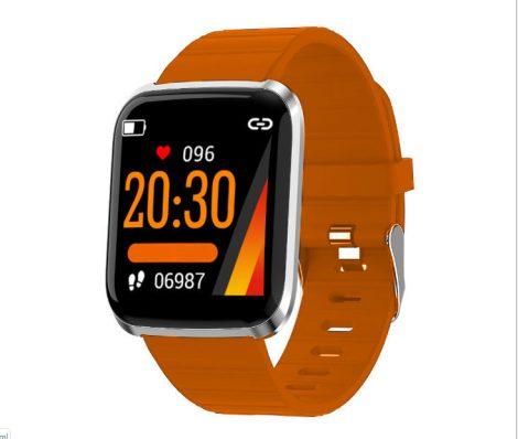 ID116 PRO Smart Watch-Orange-Line PRO este cea mai bună alegere pentru sportivi.