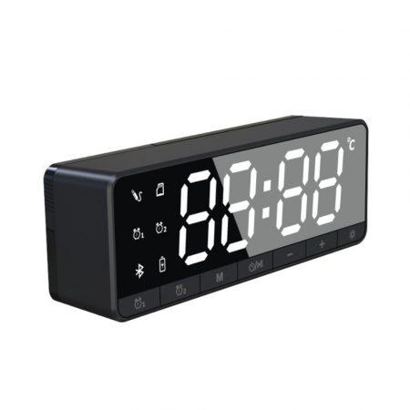 Ceas cu alarmă digitală Bluetooth - negru