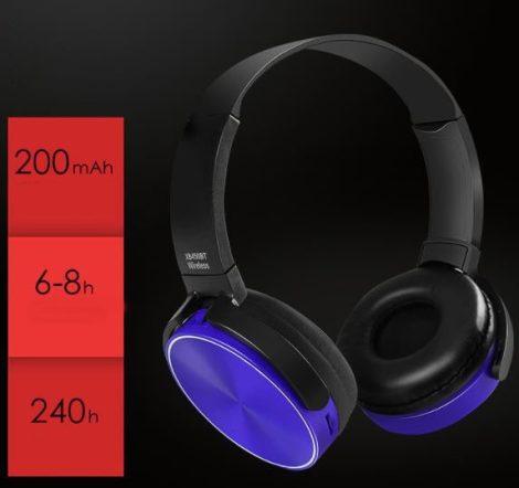 Căști Bluetooth Crispy 450TB- albastru