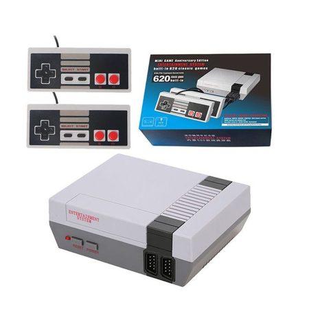 Consolă de jocuri retro TV cu 620 de jocuri încorporate cu 2 controlere HDMI