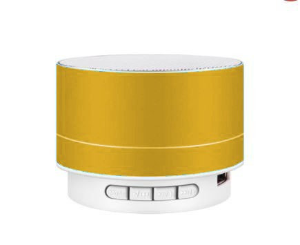 Boxă Bluetooth A10 metalică- galbenă