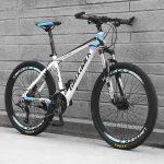 Bicicletă de munte Laux Jack design albastru și alb cu spițe tradiționale
