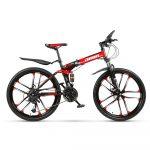 Bicicletă de munte AMIN 686 roșu-negru (pliabil)