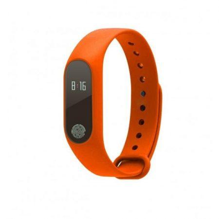 m2s brațară inteligentă portocalie-monitor de ritm cardiac pentru Android și IOS.